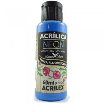 TINTA ACRILEX ACRIL. NEON 60 ML 109 AZUL