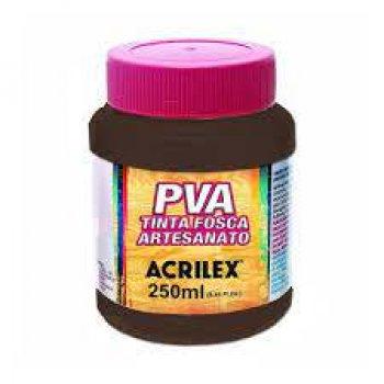 TINTA ACRILEX FOSCA P/ARTES. 250 ML 526 MARR ESCUR