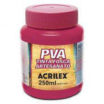 TINTA ACRILEX FOSCA P/ ARTES. 250 ML 542 ROSA ESCU