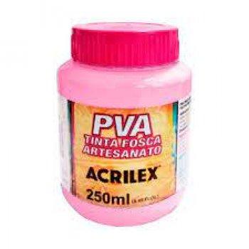 TINTA ACRILEX FOSCA P/ ARTES. 250 ML 537 ROSA